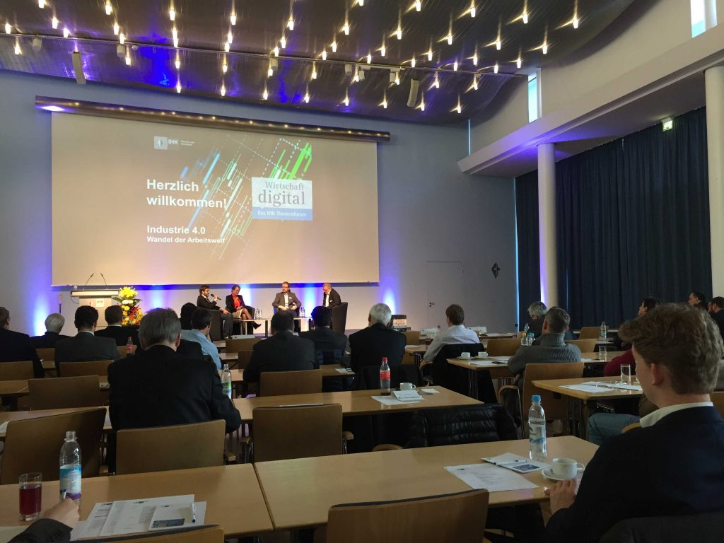 staffboard bei der IHK Veranstaltung: Industrie 4.0 – Wandel der Arbeitswelt