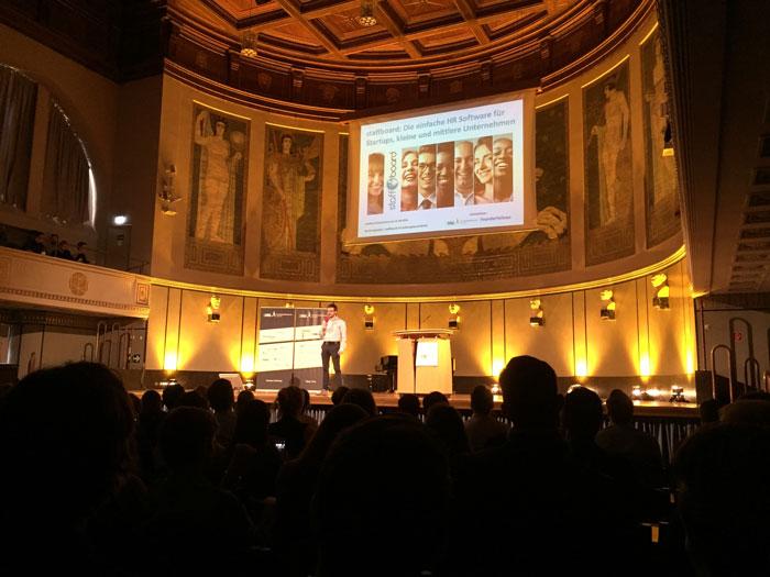 staffboard auf der Veranstaltung Leading Entrepreneurs – Munich's Best Of an der LMU München